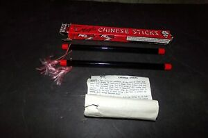 Lot 3 Vintage Royal Magic Chinese Sticks 1 Complete Set 1 Extra 1951 Instruction