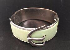 Antique Art Deco Bracelet Belt Metal Bakelite