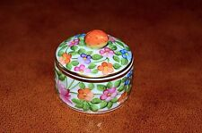 Rare Vintage Herend Hungary Porcelain Flowery and Frutty Trinket Box 6203/C