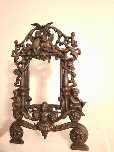 Antique Cast Iron  Framed w Cherubs/Angels ...