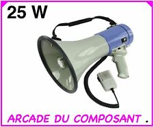 MEGAPHONE 25W avec sirene PORTEE 1,5 Km (ref 81-3082)