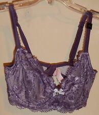 VICTORIA'S  SECRET size 34 DD Bra NEW Purple Lace Underwire 2-way straps