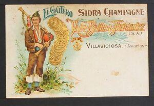 2608.-VILLAVICIOSA -El Gaitero Sidra Champagne, Valle Ballina Fernández