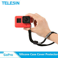 TELESIN Silicone Case Cover Protector + Black hand rope for Gopro Hero 5 6 7