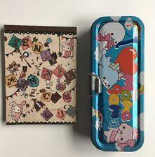 San-X Mamegoma Design Letter Writing Pad & Metal Pencil Case Kawaii