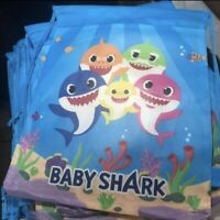 Baby Shark Party Favor Drawstring Backpack 10-pc
