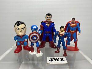 Superman Mini Action Figures Joblot - Bundle - 5x