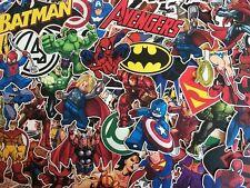 Lot De Stickers Marvel , Avengers , Super Héros , Spiderman , X-Men , DC comics