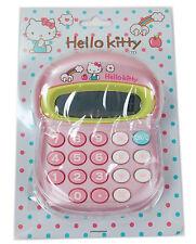 Brand New and super Cute Sanrio HELLO KITTY Battery CALCULATOR ( pink )