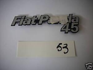SCRITTA FREGIO TARGHETTA FIAT PANDA 45