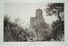 Burg Greifenstein Sankt Andrä-Wördern Donau Österreich alter Stahlstich 1844