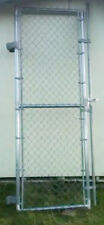 Galvanized Chain Link Steel Gates From DesMoines Steel Fence Company in Gray