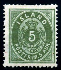 Iceland. 1882. 5a. Green. SC# 16. MH