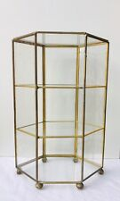 Vintage Glass And Brass Display Cabinet For Miniatures And Curios