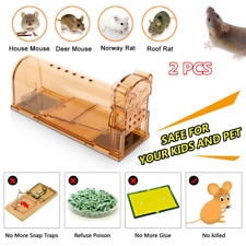 2Pcs Humane Mouse Trap Cage Animal Pest Rodent Mice Bait Live Catch and Release