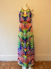 BEBE MULTICOLORED MAXI PRINTED DRESS (NWOT  / SZ S/P)
