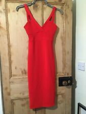 Miss Selfridge Red Calf Length Strappy Dress Size 8