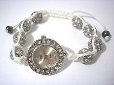Ashley Princess Bling Bling Shamballa Bracelet Women's Watch White Item 2897