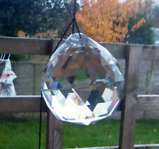 CHRISTMAS TREE WINDOW BAUBEL WEDDING ANGEL RAINBOW CUT GLASS CRYSTAL 45mm