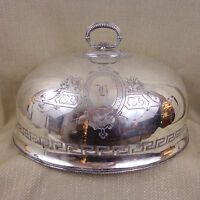 Antique Silver Plated Meat Food Dome Cover Victorian Cloche Large Turkey