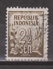 Indonesia 74 used Cijfer 1951 : NU VEEL MEER INDONESIE