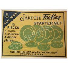 Fire King Jadite / Jadeite / Jade-ite Jane Ray Box Decal Photo