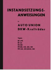 DKW SB NZ KS 200 250 350 500 RT 125 3PS Reparaturanleitung Handbuch Anweisungen
