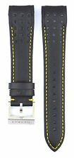 Compatible Seiko Sportura SNAE67P1 21mm Black Genuine Leather Watch Strap SKO112