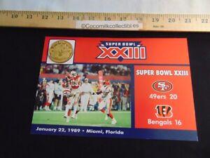 The Danbury Mint NFL Super Bowl Flip Coin Super Bowl 23 San Francisco Cincinnati