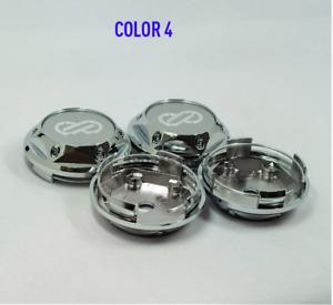 4x68mm ENKEI Silver Car Wheel Center Cap Emblem Sticker Cap Auto Styling