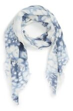 Nordstrtom Aquarelle Cashmere & Silk Scarf Blue Combo NEW Retail $99.00