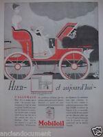 PUBLICITÉ 1930 MOBILOIL HIER ET AUJOURD'HUI - ADVERTISING