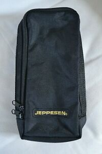 JEPPESEN black canvas pilot instrument case