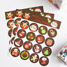 96x Merry Christmas Badge Sticker Envelope Seal Gifts Food Wrapping Stickers FO