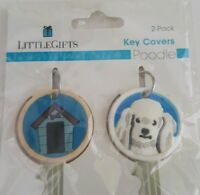 Poodle Dog House Key Covers 2 Pack New