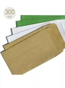 300 SMALL KRAFT COIN ENVELOPES WITH GUMMED FLAP CHANGE  SIZE 2.25 *3.5 Inch