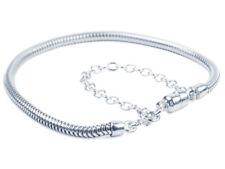 Argento Sterling Charm Bead Bracciale serpente con serratura magnetica