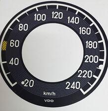 Mercedes W111 W113 Tacho Tachoscheibe Tachofolie bis 240 km/h *303*