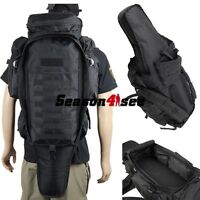 Outdoor Tactical Airsoft Molle Rifle Gun Pouch Carrier Backpack Holder Case