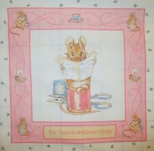 "BEATRIX POTTER TAILOR OF GLOUCESTER 14"" Quilt Fabric Panel VINTAGE 1993 RARE HTF"