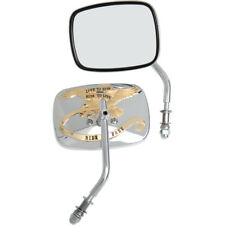 Chrome Gold Live to Ride Custom Mirrors For Harley