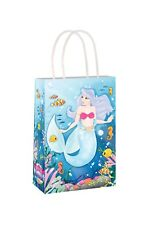 Mermaid Paper Party Bags x 6 Girls Party Loot Bags Girls Birthday Favour