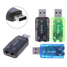 5.1 USB Sound Card External Stereo Headphone Audio PC Laptop Adaptor Accessories
