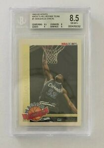 1992-93 Hoops Magic's All-Rookie Team SHAQUILLE O'NEAL RC #1, Magic  BGS 8.5