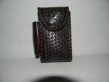Vintage Leather Star Cigarette Case Phone Walkie Holder With Lighter Holder
