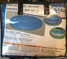 Intex 12-Foot Easy Set and Metal Frame Swimming Pool Solar Cover Tarp, Blue