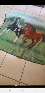 Horses Throw Blanket Plush Fleece Persis Clayton Weirs Northwest Company 47x56