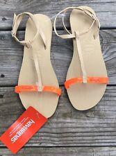 NWT havaianas Adjustable Ankle Strap sandals Size 7/8 Orange Cyber P8