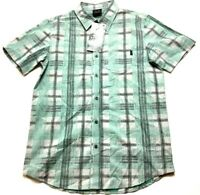 Oakley New Mens Blue Plaid Front Pocket Button Front Shirt Size Small