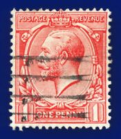 1912 SG357 1d Bright Scarlet N16(1) Good Used aucn